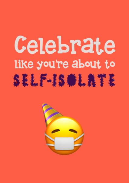 Social Distancing Funny Self-Isolation Birthday Card Funny Coronavirus Card Drinking Staying in Birthday Card Covid-19 Card Drunk Humour Card